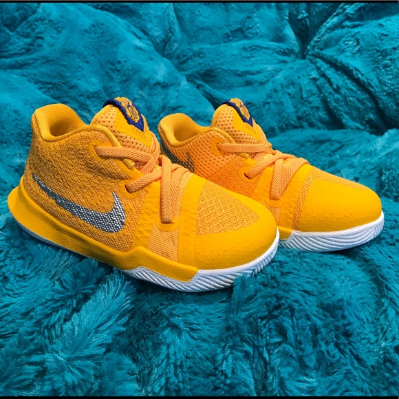 competitive price 6195e ccfe1 Toddler Nike Kyrie 3 Mac & Cheese Yellow NEW Sz 6c NWT